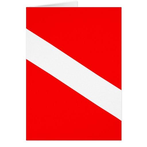 Diver Down Flag Card