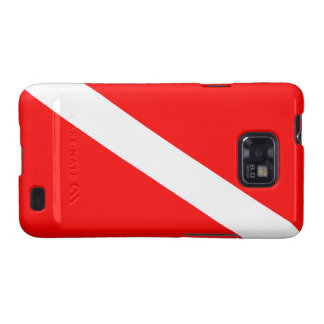 Diver Down Flag Galaxy SII Cases