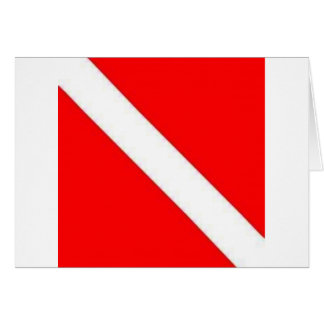 Diver Down Flag design Greeting Card