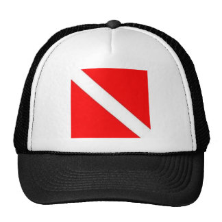 Diver Down Flag design Mesh Hat