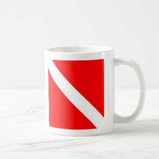 Diver Down Flag design Coffee Mug