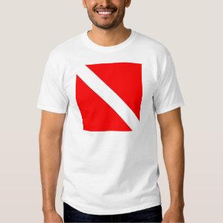 Diver Down Flag design Tee Shirt
