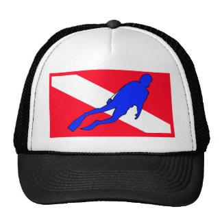Diver Down Flag Gift Cap