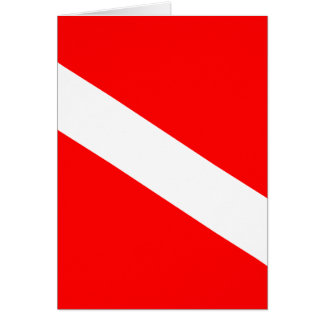 Diver Down Flag Greeting Card