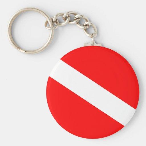 Diver Down Flag Key Chains