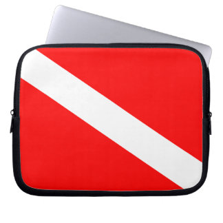 Diver Down Flag Computer Sleeve