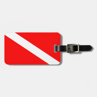Diver Down Flag Tags For Luggage