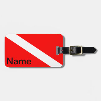 Diver Down Flag Luggage Tags