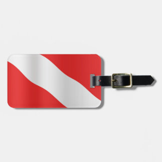 Diver down flag tag for bags