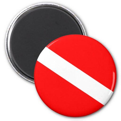 Diver Down Flag Magnet