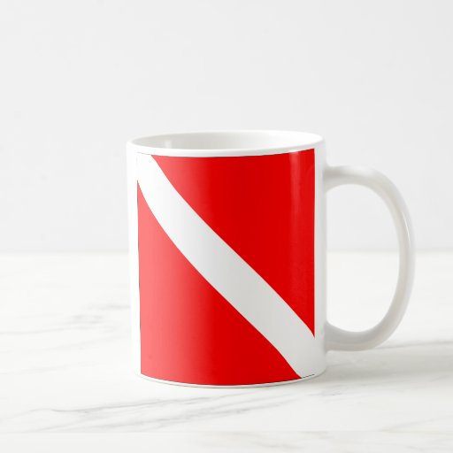 Diver Down Flag Coffee Mug