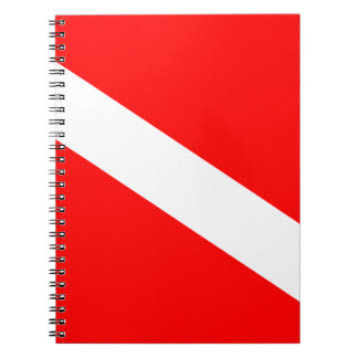 Diver Down Flag Notebooks