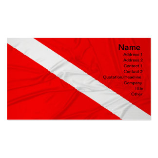 Diver Down Flag Pack Of Standard Business Cards