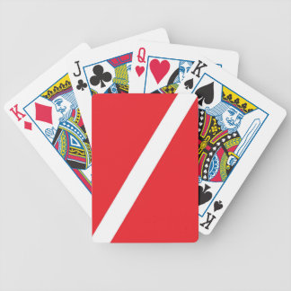 Diver Down Flag Playing Cards