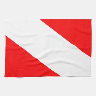 Diver down flag tea towel