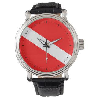 Diver Down Flag Wristwatch