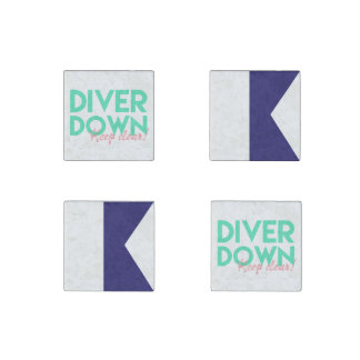 Diver Down Magnets Stone Magnet