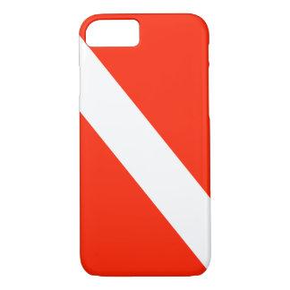 Diver Down Scuba Dive Flag iPhone 7 Case