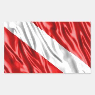 Diver Flag Rectangular Sticker