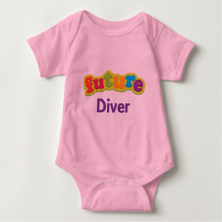 Diver (Future) Pacifier Gift Baby Bodysuit