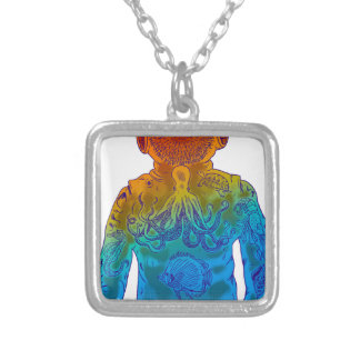 Diver Silver Plated Necklace
