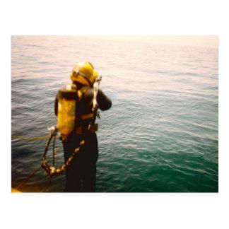 """""""Diver Splash"""" postcard"""