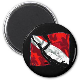DiverDown Collection 6 Cm Round Magnet