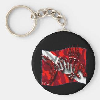 DiverDown Collection Basic Round Button Key Ring