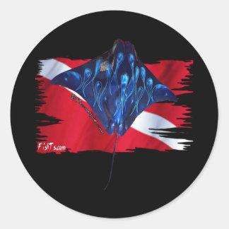 DiverDown Flag Creations Round Sticker
