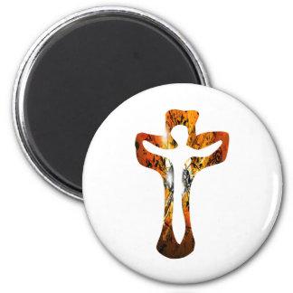 Divers 3 Christ sur Croix Effets braise TIF 6 Cm Round Magnet