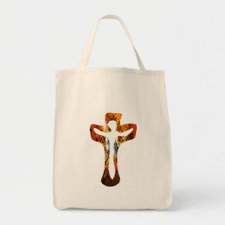 Divers 3 Christ sur Croix Effets braise TIF Tote Bags