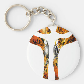 Divers 3 Christ sur Croix Effets braise TIF Basic Round Button Key Ring