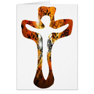 Divers 3 Christ sur Croix Effets braise TIF Greeting Card