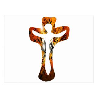 Divers 3 Christ sur Croix Effets braise TIF Postcard