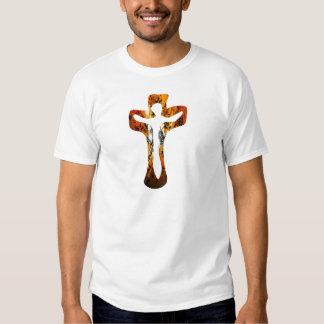 Divers 3 Christ sur Croix Effets braise TIF Tees