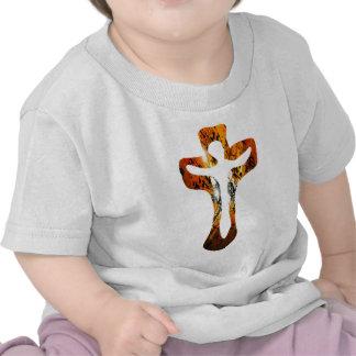 Divers 3 Christ sur Croix Effets braise TIF T-shirt