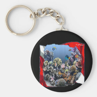 Divers Den Collection Basic Round Button Key Ring