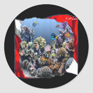 Divers Den Collection Round Sticker