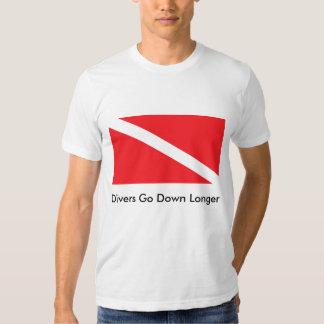 Divers Go Down Longer 2 T-shirts