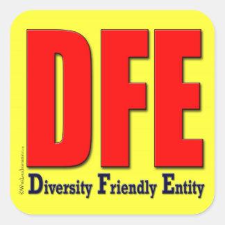 Diverse Friendly Environment Sticker