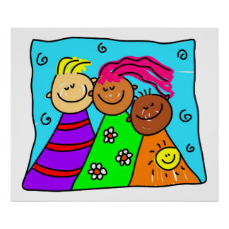 diverse friends poster