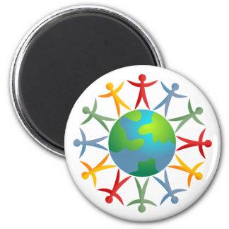 Diverse World 6 Cm Round Magnet