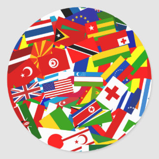 Diverse World Classic Round Sticker