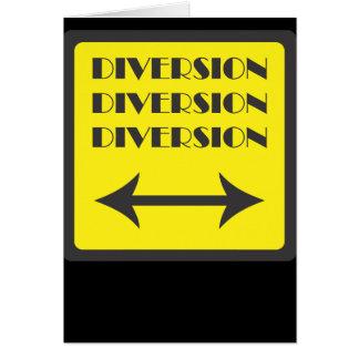 DIVERSION SIGN CARD