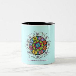 Diversity - Black Two Tone Mug (pale blue/green)