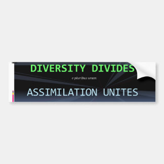 Diversity blows bumper sticker