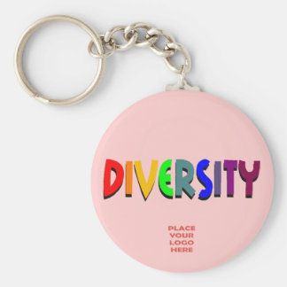 Diversity Custom Baby Pink Keychain