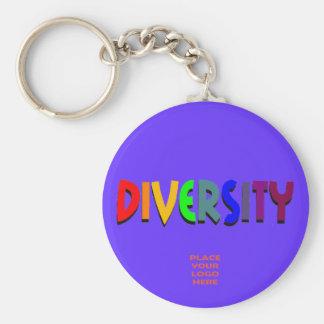 Diversity Custom Blue Keychain