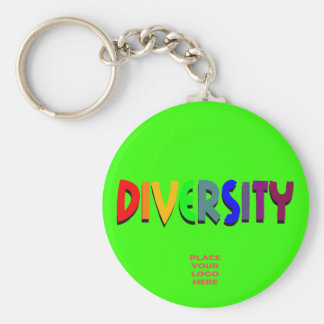 Diversity Custom Bright Green Keychain