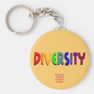 Diversity Custom Dark Beige Keychain